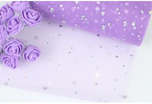Фатин с кнопочкой, 15 см, фиолетовый