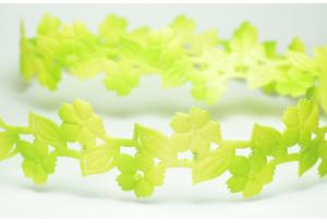 Лента резная Цветочек с листиком 3 см, салатовая