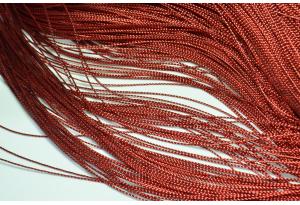 Люрексовая нить, 1 мм, темно-красная