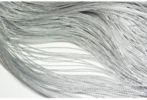 Люрексовая нить, 1 мм, серебро