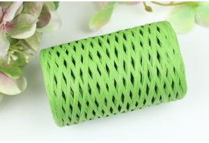 Рафия декоративная, 3 мм, 50 гр, 90 м, ярко-зеленая