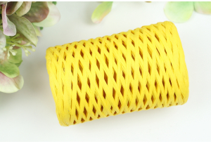 Рафия декоративная, 3 мм, 50 гр, 90 м, темно-желтая