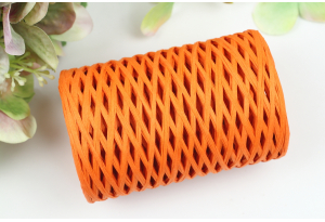 Рафия декоративная, 3 мм, 50 гр, 90 м, оранжевая