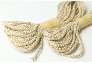 Джут-косичка декоративный, моток 5 м, 5 мм, бело-коричневый