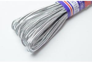 Шнур-резинка эластичный, 9 м, 2 мм, серебро