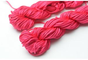 Капроновый шнур для плетения (шамбала), 20 м, 1 мм, малиновый