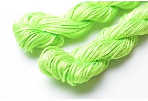 Капроновый шнур для плетения (шамбала), 20 м, 1 мм, салатовый