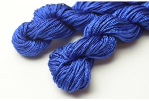 Капроновый шнур для плетения (шамбала), 20 м, 1 мм, синий