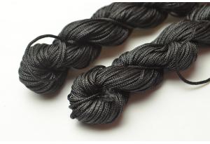 Капроновый шнур для плетения (шамбала), 20 м, 1 мм, черный