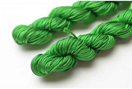 Капроновый шнур для плетения (шамбала), 20 м, 1 мм, зеленый