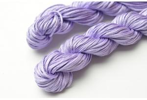 Капроновый шнур для плетения (шамбала), 20 м, 1 мм, сиреневый