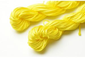 Капроновый шнур для плетения (шамбала), 20 м, 1 мм, желтый