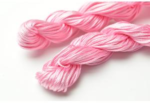 Капроновый шнур для плетения (шамбала), 20 м, 1 мм, розовый