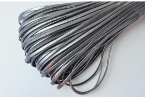 Шнур из экокожи, моток 5 м, 2 мм, серый