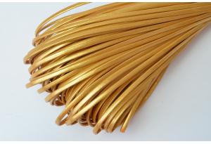 Шнур из экокожи, моток 5 м, 2 мм, золотой