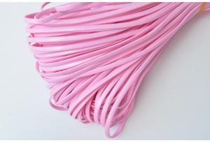 Шнур из экокожи, моток 5 м, 2 мм, розовый