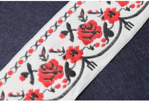 Тесьма с украинским орнаментом, 5 см, №5