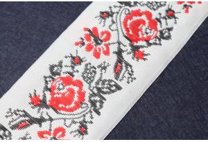 Тесьма с украинским орнаментом, 5 см, №8
