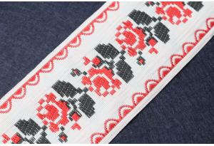 Тесьма с украинским орнаментом, 5 см, №1
