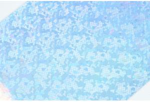 Экокожа 20x30 см, толщина 1 мм, голограмма, серебро с голубым отливом