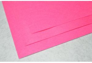 Фетр 20 х 25 см, толщина 1 мм, жесткий, ярко-розовый