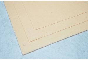 Фетр 20 х 25 см, толщина 1 мм, жесткий, персиковый