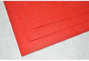 Фетр 20 х 25 см, толщина 1 мм, жесткий,  красный