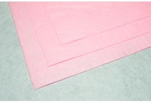 Фетр 20 х 25 см, толщина 1 мм, жесткий, розовый