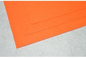 Фетр 20 х 25 см, толщина 1 мм, жесткий, оранжевый