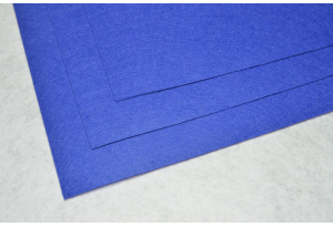 Фетр 20 х 25 см, толщина 1 мм, жесткий, синий