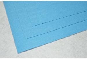 Фетр 20 х 25 см, толщина 1 мм, жесткий, голубой