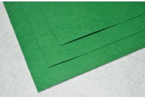 Фетр 20 х 25 см, толщина 1 мм, жесткий, зеленый