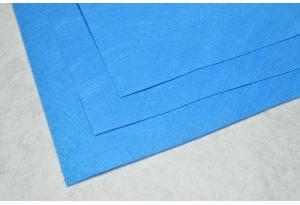 Фетр 20 х 25 см, толщина 1 мм, жесткий, ярко-голубой