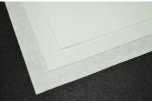 Фетр 20 х 25 см, толщина 1 мм, жесткий, белый
