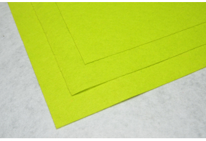 Фетр 20 х 25 см, толщина 1 мм, жесткий, лимонный