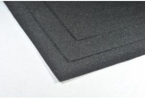 Фетр 20 х 25 см, толщина 1 мм, жесткий, черный