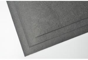 Фетр 20 х 25 см, толщина 1 мм, жесткий, графитовый