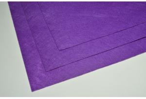 Фетр 20 х 25 см, толщина 1 мм, жесткий, фиолетовый