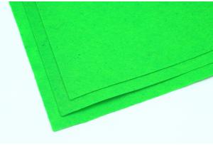 Фетр 20 х 25 см, толщина 1 мм, жесткий, ярко-зеленый