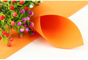 Фоамиран 50 x 50 см, толщина 1 мм, оранжевый