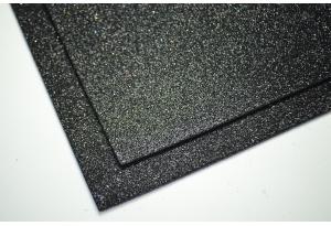 Фоамиран с глиттером 20x30 см, толщина 2 мм, черный