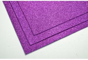 Фоамиран с глиттером 20x30 см, толщина 2 мм, фиолетовый