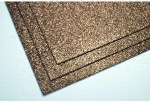 Фоамиран с глиттером 20x30 см, толщина 2 мм, шоколадный