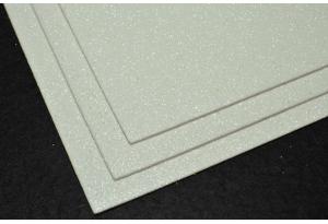 Фоамиран с глиттером 20x30 см, толщина 2 мм, белый