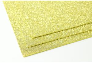 Фоамиран с глиттером 20x30 см, толщина 2 мм, светлое золото