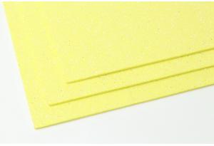 Фоамиран с глиттером 20x30 см, толщина 2 мм, желтый