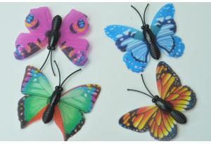 Бабочка на магните, 4.5х3.5 см, цветной микс