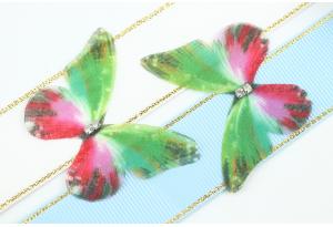 Аппликация Бабочка из шифона, 4.7 см, № 12, разноцветная