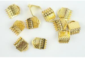 Бижутерия: зажим для лент, 6 мм, золото