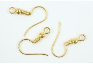 Бижутерия: швензы для сережек, 20x18 мм, золото